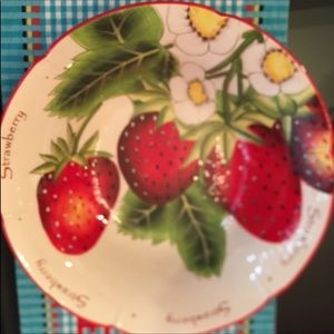Pier 1 Hand painted Strawberry Bowl